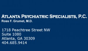 Psychiatry Atlanta Dr. Ross Grumet provides a wide range of psychiatric services including ADD/ADHD, Depression, Bipolar, Insomnia, Eating Disorders, Addiction