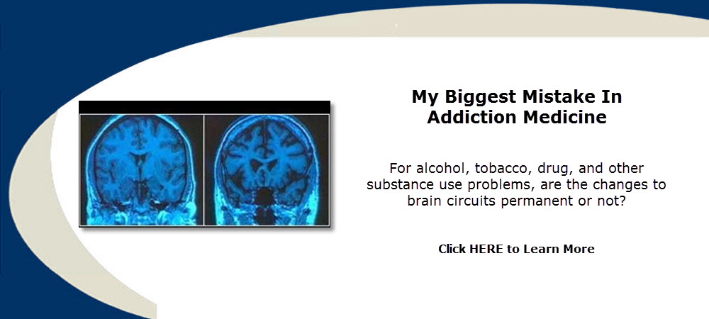 Addiction Medicine - For alcohol, tobacco, drug, and other substance use problems, are the changes to brain circuits permanent or not?