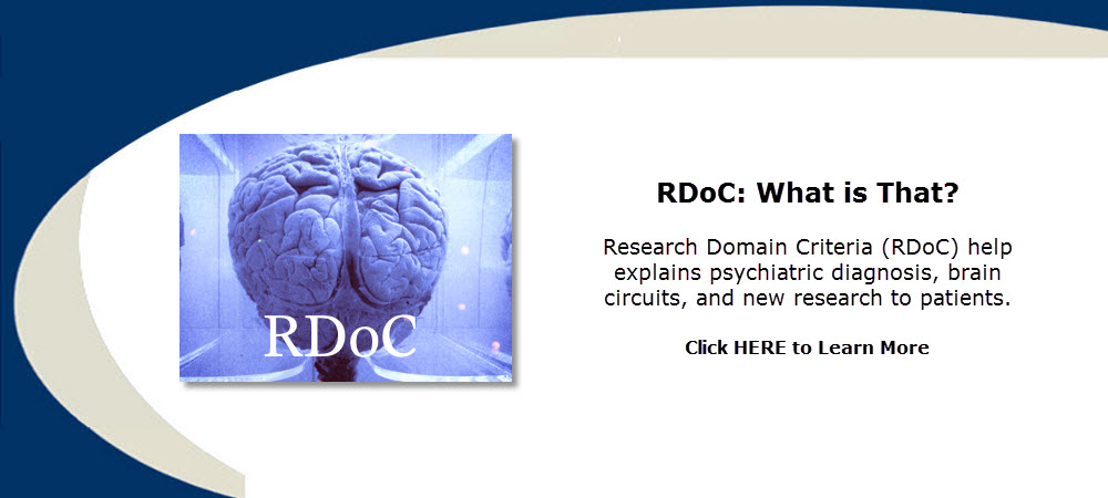 Research Domain Criteria (RDoC) help explains psychiatric diagnosis, brain circuits, and new research to patients, and complements DSM 5. Ross F. Grumet, M.D.
